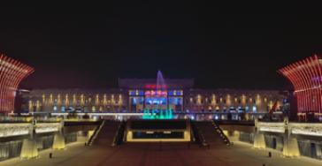 济南西站东广场亮化工程-户外亮化